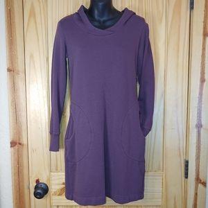 Horny Toad Dresspass Plum Hooded Sweatshirt Dress